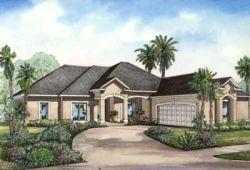 Mediterranean Style Home Design Plan: 12-465