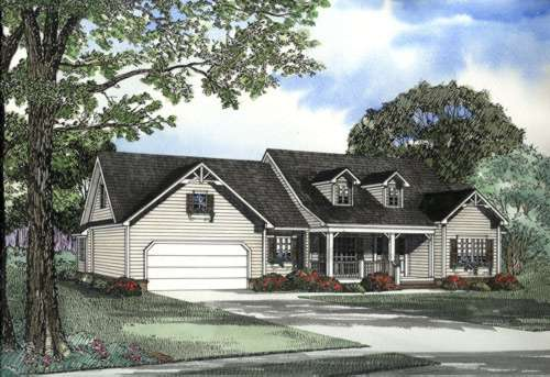 Country Style Home Design Plan: 12-468