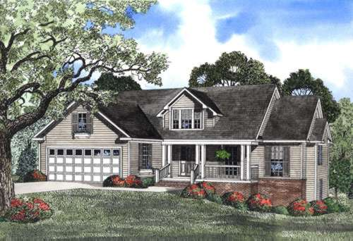 Country Style Floor Plans Plan: 12-471