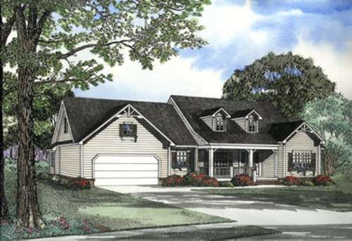 Country Style Home Design Plan: 12-472