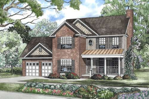 Southern Style Floor Plans Plan: 12-474