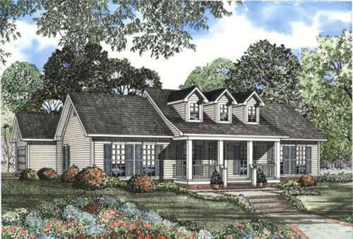 Country Style Floor Plans Plan: 12-475