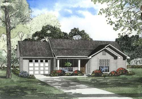 Ranch Style House Plans Plan: 12-477