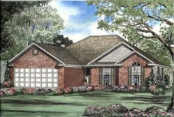 Traditional Style Home Design Plan: 12-486