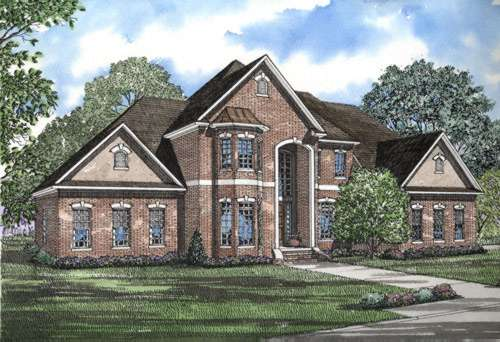 European Style House Plans Plan: 12-488