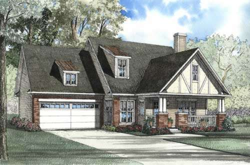 English-country Style Floor Plans Plan: 12-490