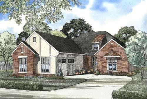 English-country Style House Plans Plan: 12-493