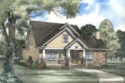 Bungalow Style Home Design Plan: 12-494