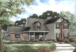 Country Style Floor Plans Plan: 12-496