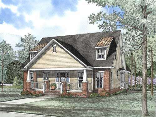 Bungalow Style House Plans Plan: 12-498