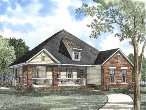 Country Style Home Design Plan: 12-499