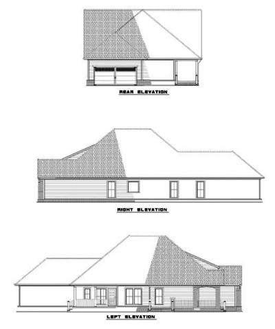 Rear Elevation Plan: 12-499