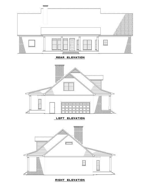 Rear Elevation Plan: 12-501