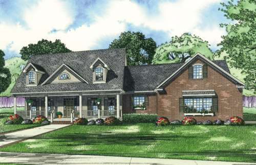Southern Style Floor Plans Plan: 12-504