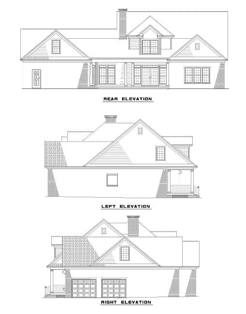 Rear Elevation Plan: 12-504