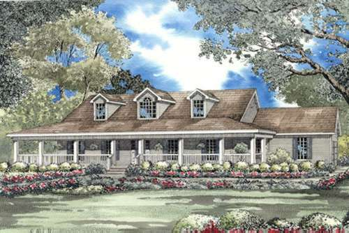 Farm Style Home Design Plan: 12-506