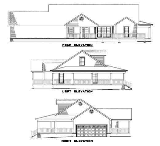 Rear Elevation Plan: 12-506