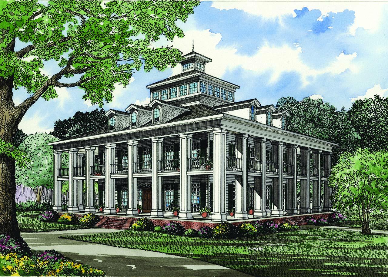 Greek-revival Style House Plans Plan: 12-510