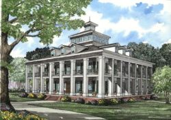 Greek-Revival Style Home Design Plan: 12-510