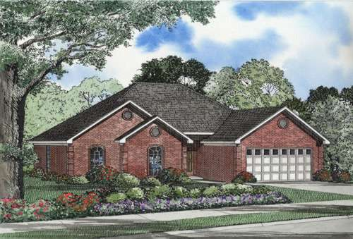 Traditional Style Home Design Plan: 12-512
