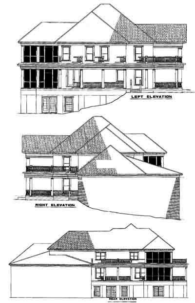 Rear Elevation Plan: 12-514