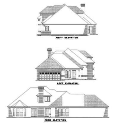 Rear Elevation Plan: 12-515