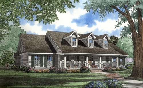 Country Style House Plans Plan: 12-517