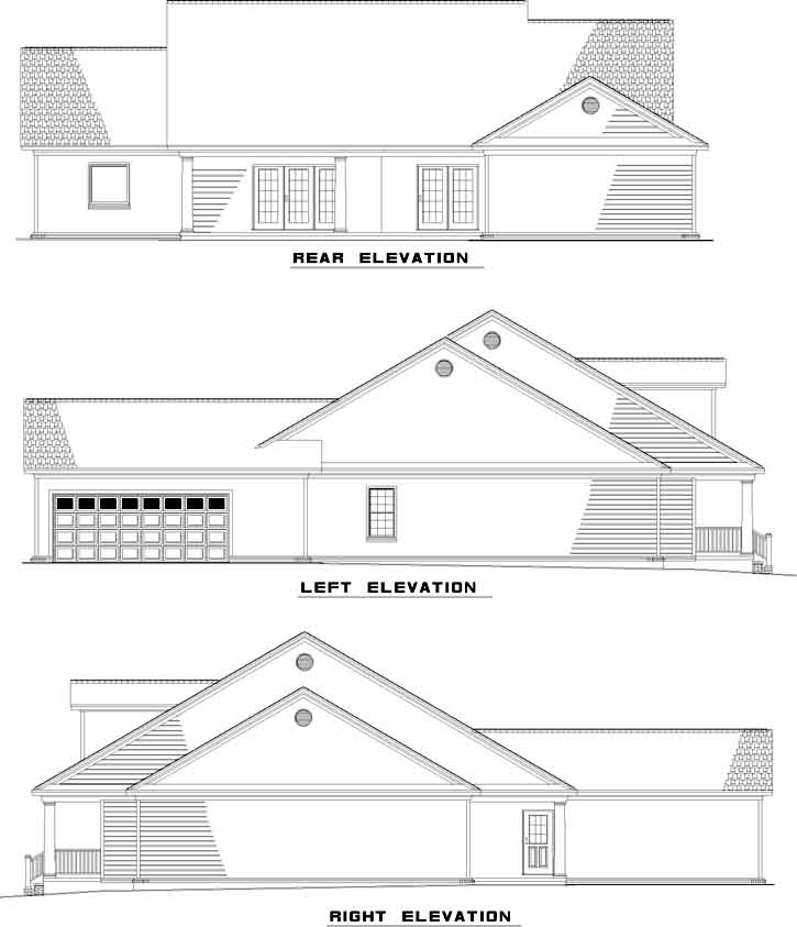 Rear Elevation Plan: 12-517