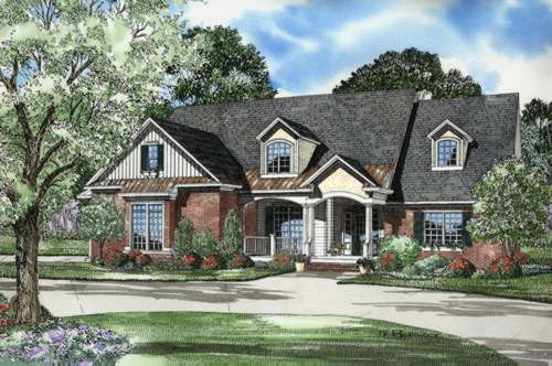 French-country Style House Plans Plan: 12-518