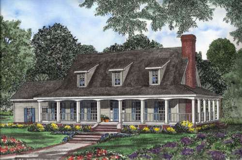 Country Style Floor Plans Plan: 12-522
