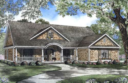 Traditional Style Home Design Plan: 12-523
