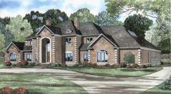 European Style Home Design Plan: 12-524