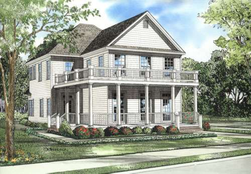Southern Style Home Design Plan: 12-525
