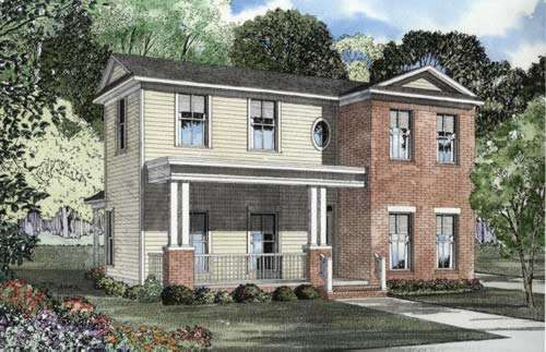 Southern Style Home Design 12-530