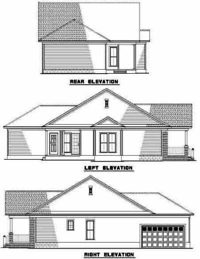 Rear Elevation Plan: 12-532