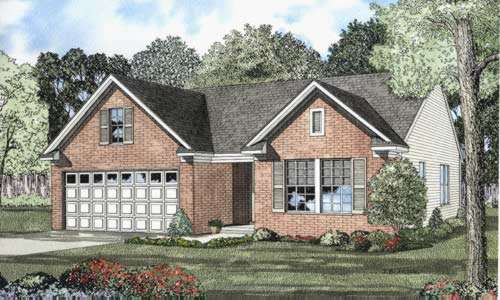 Traditional Style Home Design Plan: 12-537