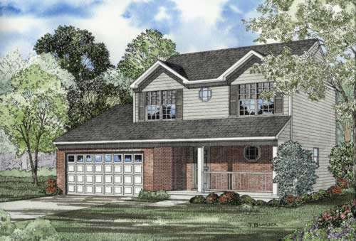 Traditional Style Home Design Plan: 12-539