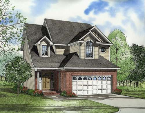 Traditional Style Home Design Plan: 12-548