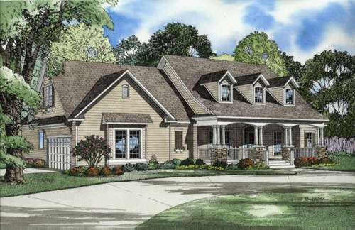 Country Style Home Design Plan: 12-549