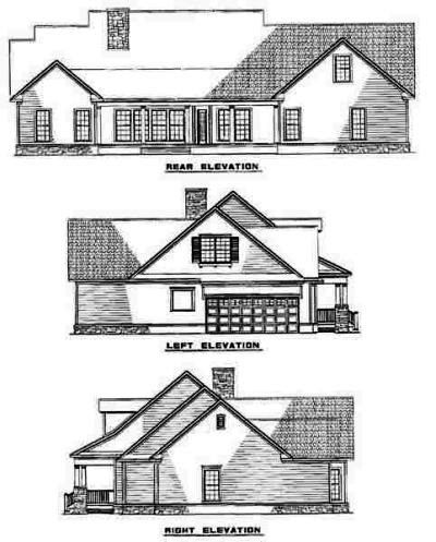 Rear Elevation Plan: 12-549