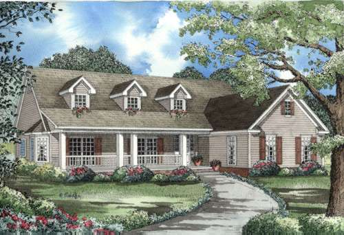 Country Style Home Design Plan: 12-552