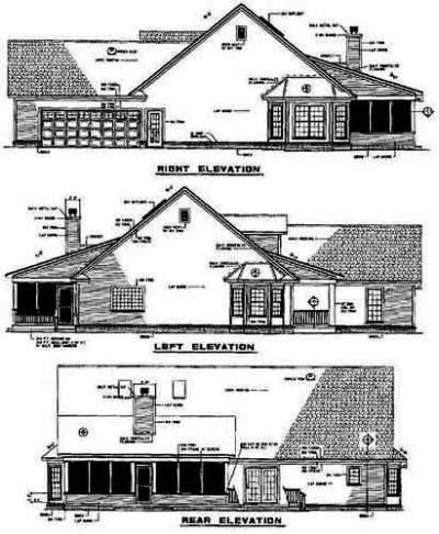 Rear Elevation Plan: 12-552