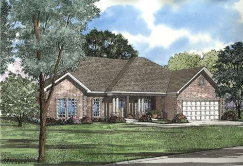 Traditional Style Home Design Plan: 12-553