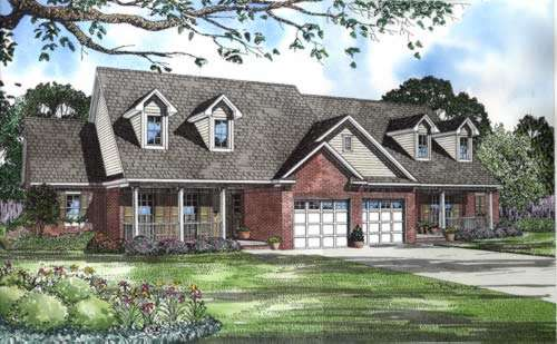 Southern Style Floor Plans Plan: 12-555