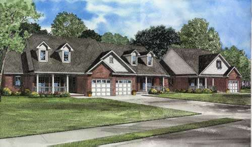 Traditional Style Home Design Plan: 12-557
