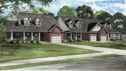 Traditional Style Home Design Plan: 12-558