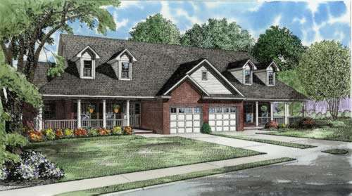 Traditional Style Home Design Plan: 12-559
