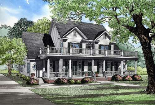 Country Style Home Design Plan: 12-563
