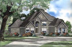 European Style Home Design Plan: 12-567