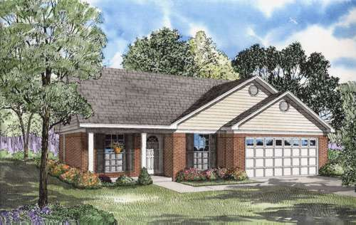 Traditional Style Home Design Plan: 12-568